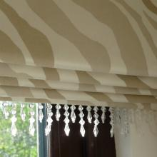 Roman Blind With Beaded Trim